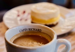 Good morning, Paris! (joanneclifford) Tags: coffee dessert cafésrichard xf1855mm fujifilmxt20 yummy cafés paris cheesecake americano