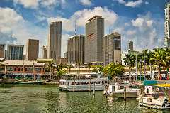 Arriving at the Bayfront marina. (Aglez the city guy ☺) Tags: bayfrontpark miamifl miamicity downtownmiami bayfrontmarina architecture afternoon cityscapes waterways yacht building yachtride outdoors clouds boats bay walking walkingaround urbanexploration