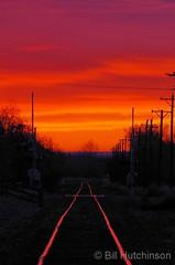 November 10, 2018 - Railroad tracks light the way to sunrise. (Bill Hutchinson)