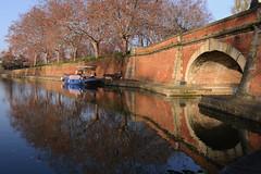 France - Toulouse - canal du Midi port de l'Embouchure (AlCapitol) Tags: france toulouse nikon d800 canal canaldumidi portdelembouchure pont bridge reflet reflection automne autumn
