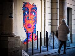 Les murs qui regardent. (kitchou1 Thanx 4 UR Visits Coms+Faves.) Tags: exterior art cityscape paris street people architecture winter landscape europe france world