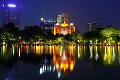 Hanoi by night. Municipal People's Committee (Andrey Sulitskiy) Tags: hanoi hoankiem vietnam