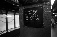 Subway (Manuel Goncalves) Tags: sign metro subway newyork usa station 35mmfilm blackandwhite kentmere400 nikonn90s epsonv500scanner