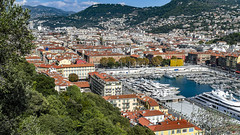 Nice from Colline du Chateau in Nice, France  13/10 2018. (photoola) Tags: nice collinedechateau france cotedazur photoola harbour medelhavet