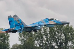 71 | Sukhoi Su-27 Flanker (FrogFootTV) Tags: ukraineairforce ukrainianairforce su27flanker su27 flanker jet plane ukraine ukrainian airforce air force militaryaviation planespotting radomairshow planespotter aviationlovers jetspotting militaryaircraft militaryhardware planes airplanes airplane aviation flying flight pilot combat military formation afterburner blue sky clouds tree canon 7dmk1 sigma 120400 7d canon7d sigma120400