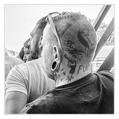 Some guys don´t need love (sdc_foto) Tags: sdcfoto street streetphotography bw blackandwhite pentax k1 man skinhead tattoo
