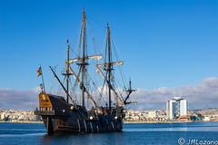 llegada a Melilla Nao Victoria (josmanmelilla) Tags: barcos velero melilla mar azul agua españa nubes pwmelilla pwdmelilla flickphotowalk pwdemelilla