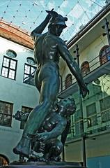 Merkur, Mercurius, Mercury (2) (Wolfgang Bazer) Tags: merkur mercurius mercury merkurbrunnen adriaen de vries wolfgang neidhardt brunnenfigur skulptur sculpture maximilianmuseum augsburg schwaben swabia bayern bavaria deutschland germany
