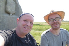 Tal and myself at the end of the Wolds Way (Bods) Tags: clevelandwaymonument walk yorkshirewoldsway fileycountrypark yorkshirewoldswaymonument clevelandway yorkshirewoldswayday5 gantontofileywalk northyorkshire filey fileybrigg