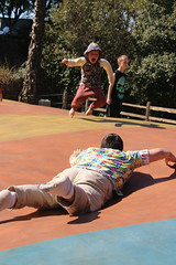 Jumping and landing (quinn.anya) Tags: sam kindergartener jumping andy jumpingpillow jellystonepark