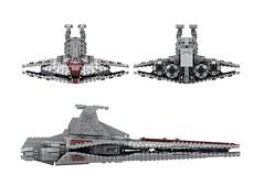 Venator class destroyer WIP 21OCT2018 (slow builder) Tags: lego starwars venator moc midscale