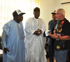 Courtesy call on HMIC Alh. Lai Mohammed by International Bikers Association