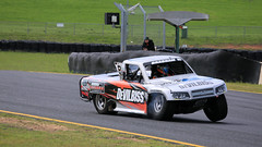 Test Flight (2/2) (Jungle Jack Movements (ferroequinologist)) Tags: matt 83 robby gordon lift off main straight ramp fly stadium super trucks speed energy sydney motorsport park eastern creek nsw new south wales australia us usa america v8 jump air airtime brabham cole potts ingall motor racing race car hottie track practice pole position times timing hard competition competitive sports racer driver engine build fast grid circuit drive helmet marshal starter sponsor number class texas speedway chev chevrolet