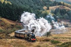 Jacobite Front shot (petebristo) Tags: landscape scotland steamtrains trains steam thejacobite glenfinnan highlands