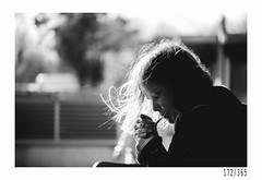 Time for a smoke (Aljaž Anžič Tuna) Tags: break smoke cigarette gegenlight sun street streetphotography pause girl photo365 project365 people onephotoaday onceaday 365 35mm 365challenge 365project nikkor nice naturallight nikon nikon105mmf28 105mmf28 f28 dailyphoto day dof bw blackandwhite black white blackwhite beautiful