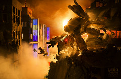 LEGO TOKYO - THE FALL (Shobrick) Tags: shobrick cole blacq hideo kojima metal gear solid ghost shell science fiction scifi future mecha war japan tokyo modernwarfare soldier usnavyseal canon markiii 5d macro diorama lego minifig lighting cinematography