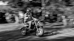 Mini-Bike Chick (Tim @ Photovisions) Tags: girl monochrome cycle blackandwhite minibike fuji xt2 people race track road racetrack nebraska fujifilm