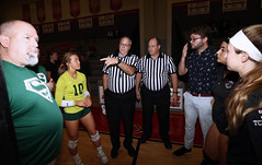 IMG_3165 (SJH Foto) Tags: girls high school volleyball bishop shanahan hempfield state pool play championships canon 1018 f4556 stm superwide lens pregame ceremonies ref referee captains coin toss coaches