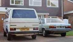 C354 TJM & ANK 718X (Nivek.Old.Gold) Tags: 1986 volkswagen transporter 78ps 1915cc t3 1982 audi 100 l 5s 2144cc cl