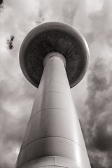 Water Tower. Illinois. (raymorgan4) Tags: water tower illinois gilman fujifilmx100f x100f blackandwhite americana rural usa