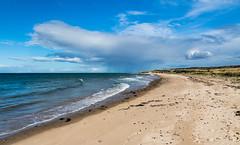 Showers Ahead (Mac ind Óg) Tags: coveseaskerrieslighthouse summer beach landscape moray walking lighthouse lossiemouth beachscape holiday scotland elgin scenicsnotjustlandscapes rain cloud