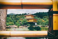 金閣寺.Kinkaku-ji (Golden Pavilion) (Chipmunk LIN) Tags: town japan kyoto city culture building canon canon70d kinkakuji 日本 日式 日系 金閣寺 京都 寺廟 古蹟 文化 日常 日記 log 夏日 夏天 天空 湖水