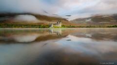 Enchanting..... (Leigh-Ann Mitchell Photography) Tags: kilchurn castle on loch awe water mountain sky clouds mist reflection scotland nature landscape