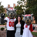 Truman Scholar Ashley Lawson poses with Mr. & Ms. Wuf