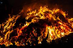 Holika Dahan Pyre, Phalain Uttar Pradesh (AdamCohn) Tags: adamcohn falein falen fallen hindu holikadahan india koshikalan kosikalan mathura vrindavan bonfire fire holi pyre silhouette wwwadamcohncom phalain prahladmandir prehladmandir