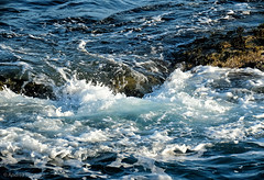 35 Splash (manxmaid2000) Tags: waves sea splash rock spray water ocean blue seaweed tide current island isleofman manx iom fuji irishsea wave coast coastal weather british rough