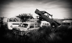 Parking... (MFPolako) Tags: highcontrast urbex greatshots discarded forgotten abandoned exploration old viejo urbanexploration urbexphotography urbandecay decay garbage grunge utopia junk antique antiguo bahiablanca perdido panorama panoramic bajohondo campo country field town pueblo dirt places travel paisajes discover visitar turismo ruta road viajeros grain grano pueblito carretera blackandwhite blancoynegro monochrome noir blackandwhitephotography bnw bw greyscale argentina outside restos remains oxido rusty rust car auto wheels countryside chatarra junkyard abandonado barrio rural