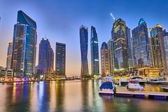 Dubai Marina (Joao Eduardo Figueiredo) Tags: dubai marina skyline united arab emirates unitedarabemirates uae nikon nikond850 joaofigueiredo joaoeduardofigueiredo water buildings skyscrapers boats building boat architecture