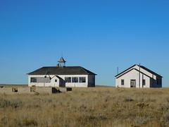 The Old Keeline School (jimmywayne) Tags: wyoming rural school decay keeline niobraracounty