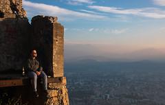 Sunset (mathieunigay) Tags: mountain sun sunset beer castle french france grenoble montagne city ville sky blue apero cloud home me portrait automne soleil altitude bière taclard