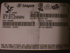 SCSI HDD: drive information tag (DigitalColophon) Tags: seagate harddrive scsi