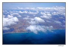 blue sea water (harrypwt) Tags: harrypwt ghana fujix70 africa afrika framed borders aerial clouds sea coastal littoral