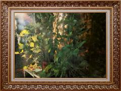 Подарок осени. Ноябрь / Gift of autumn. November (tatiana.ch) Tags: осень стилизация фотоживопись бальзамин фото2016 рамка dap painting phototopainting ownphoto indoor cezanne autumn