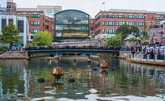 2018-9-8 A crowd starts to gather at Waterplace Park for WaterFire (Photograph by Norma Smith)