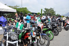 HMIC Alh. Lai Mohammed flags off a 14days tour on Museums and Tourism sites inNigeria by National Commission for Museums & Monuments and Lama International Motorcycle Association