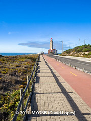 Portugal 2017-9042003 (myobb (David Lopes)) Tags: 2017 allrightsreserved atlanticocean europe nazare portugal absence bikepath cobblestone copyrighted landscape lighthouse nature nopeople ocean outdoor plant scenicnature sidewalk sky skybluesky street streetlamp tourism touristattraction tranquilscene tranquilty traveldestination vacation water ©2017davidlopes