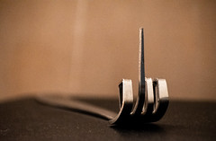 Fork (ashhayling) Tags: fork rude swear bend metal close you cutlery meal