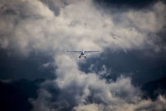 No destination (Victor Carrera) Tags: clouds plane day cloudy afternoon 600mm nikon d7200 mountains