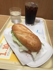 Mirano sandwich (cheese and ham) at Doutor, kichijoji (nakashi) Tags: coffeeshop kichijoji tokyo japan