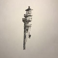 (Miles Davis (Smiley)) Tags: pen sketch light house lighthouse