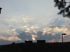 Sun's rays 7:28pm (creed_400) Tags: belmont west michigan autumn fall september dusk clouds rays sun