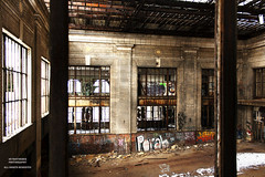 Modern Guilt (DetroitDerek Photography ( ALL RIGHTS RESERVED )) Tags: allrightsreserved 313 detroit corktown motown mcs michigan central train station depot ford motor bandoned blight decay urban urbandecay restore graffiti interior inside urbex dilapidated damaged light dark shadows detroitderek archive canon digital eos rebel xs fix october 2018 midwest usa america icon ruin window motorcity railroad railway nothdr