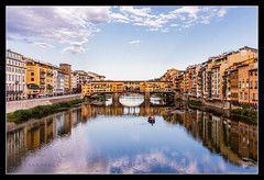Ponte Vecchio (Ameen M. Photos) Tags: ponte vecchio italia belliaitalia italy florence firenze reflection water river ancient
