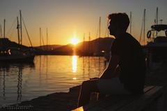 Sunset in Naoussa (pucciarellic) Tags: grece grecia greci greek island paros naoussa naousa cicladi isolagreca kikladhes suvlaki gyros sea summer estate mare canon canon6d 50mm model norman portrait modello ritratto boy boyfriend ragazzo sunset tramonto