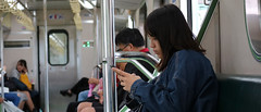 1013_047 (solarliu) Tags: taiwan fog rainy rain trip journey damp blue train bus station snap people passerby girl