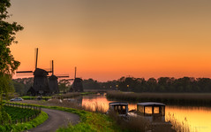 Ships & mills watching the Dutch sunset together. (Alex-de-Haas) Tags: 70200mm adobe d500 dutch hdr holland lightroom nederland nederlands netherlands nikkor nikon nikond500 noordholland photomatix photomatixpro beautiful beauty drama dramatic landscape landschaft landschap lente lucht mill molen mooi nature natuur orange oranje polder skies sky skyscape spectaculair spectacular spring sun sundown sunset zonsondergang
